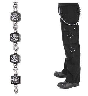 Hosenkette Schlüsselkette Würfel Totenkopf