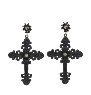 Ohrring Gothic Cross