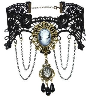 Gothic Choker Cameo Halsband