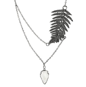 Halskette Farnblatt