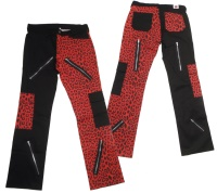 Hose im roten Leopardenlook Freak Pant red leo Black Pistol