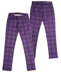 Damen Stretchjeans Tartan Darkside