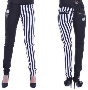Damen Skinnyjeans mit 2 farbigen Beinen Ida Pant Chemical Black
