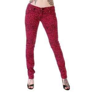 Damen Stretchjeans Leopard pink Poizen Industries