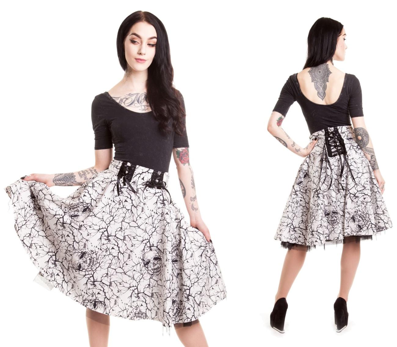Aurora Skirt Vixxsin Tellerrock Rockabilly Rock Vixxsin Rocke Details Gothic Shop Und Versand Auroraskirt Www Punk Gothic Shop De