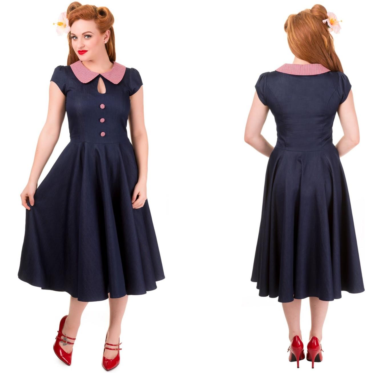Blueberry Hill Dress Rock n Roll Kleid Banned - Banned Kleider ...