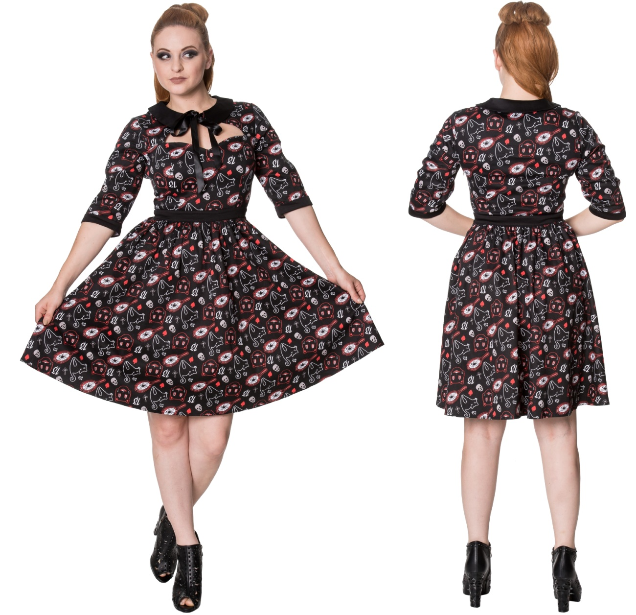 8c6c109bcb7f71 Two Faced Dress Rockabilly Kleid Banned - Banned Kleider - Gothic ...