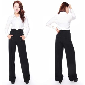 Damen Swing Trouser Marlene Hose Chic Star