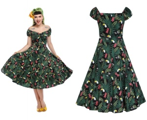Dolores Doll Dress Tropicalia Collectif bis Plussize