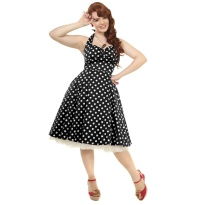Petticoatkleid/Rock n Roll Kleid Joana gepunktet Collectif Plussize