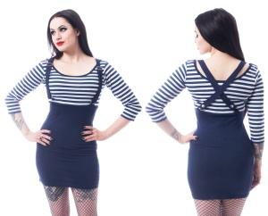 Stretchkleid im Matrosenstil Sailor Dress Rockabella