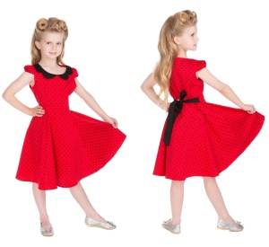 Rockn Roll Kleid Polka Dot Kinder H&R London