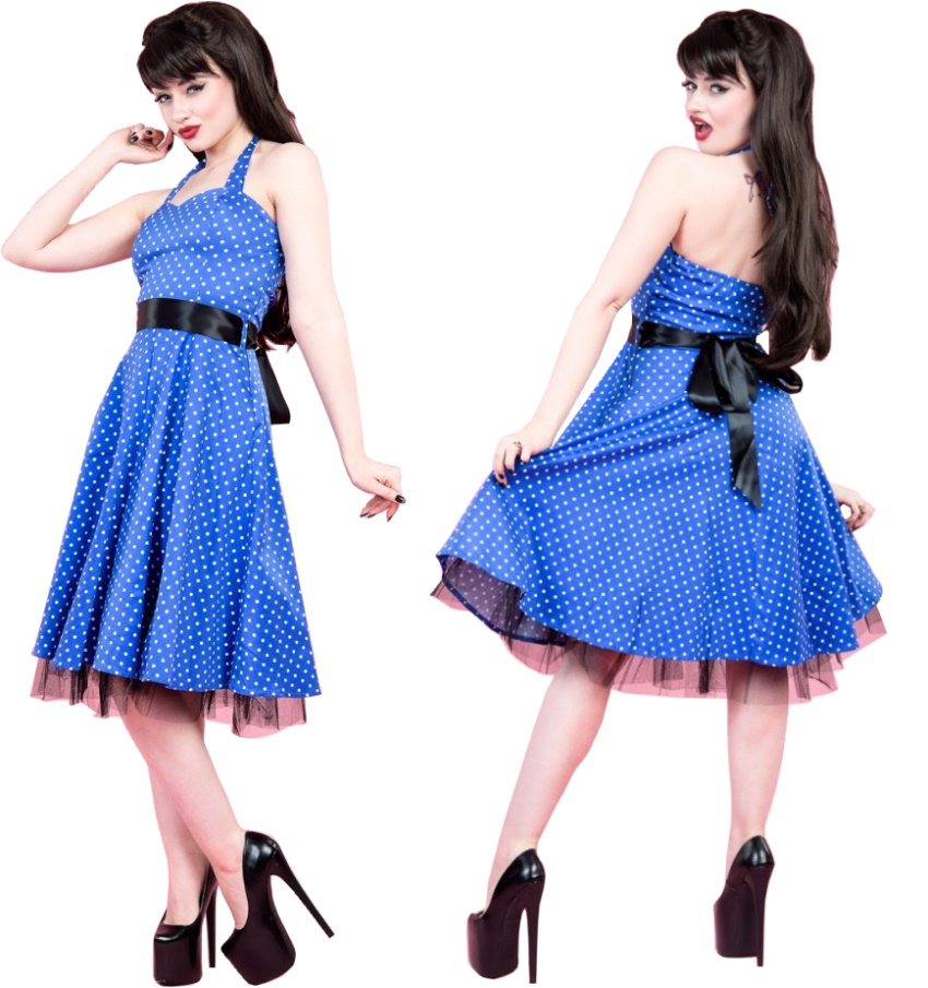 57bcf82f19ff Rock n Roll Kleid H&R London Rockabilly - H&R London bei Gothic Onlineshop  - www.the-clash.de