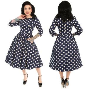 Rockn Roll Kleid Milana Polka Dot bis Plussize