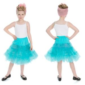 Kinder Petticoat hellblau