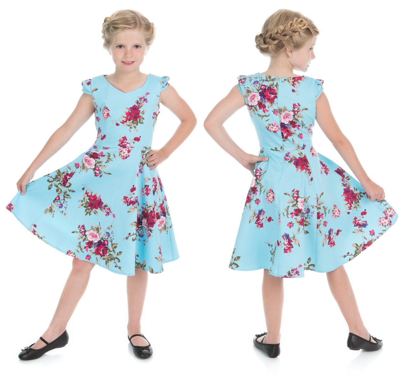 kinder rock n roll kleid royal ballet tea dress