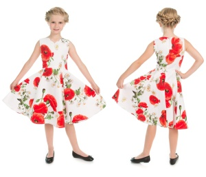 Kinder Rock n Roll Kleid Opium Poppy Floral Dress