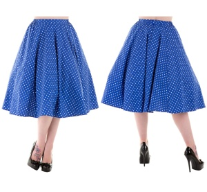 Rockn Roll Rock Swing Skirt Small Dot