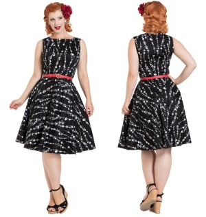 Rockabilly Kleid Floral Dress Voodoo Vixen