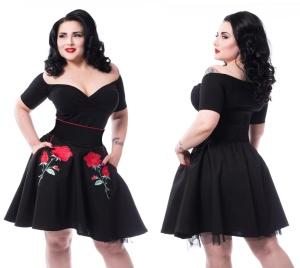 Petticoatrock mit Rosen Vixxsin