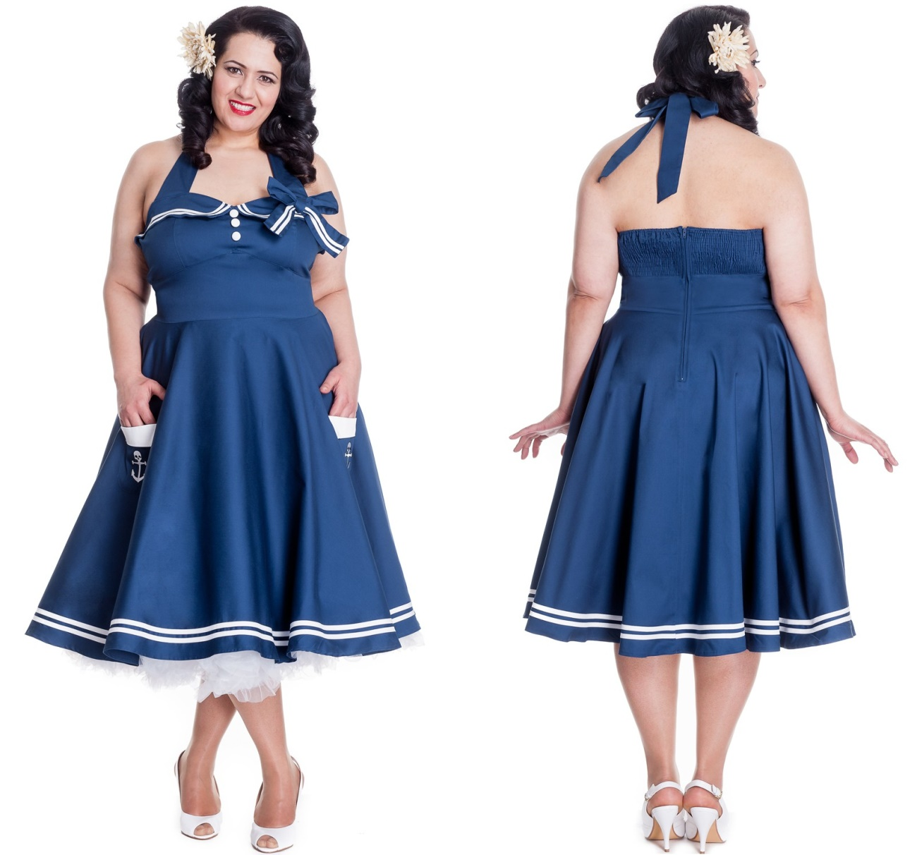 5d5325e5e006be Motley 50 s Dress Rock n Roll Kleid Übergrösse Hellbunny - Hellbunny ...