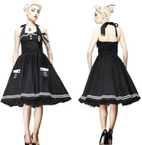 Motley 50 s Dress/Rock n Roll Kleid Hellbunny