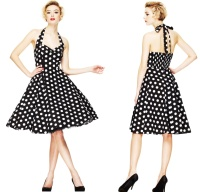 Rock N Roll Kleid Punkte Rockabilly Boogie Dress