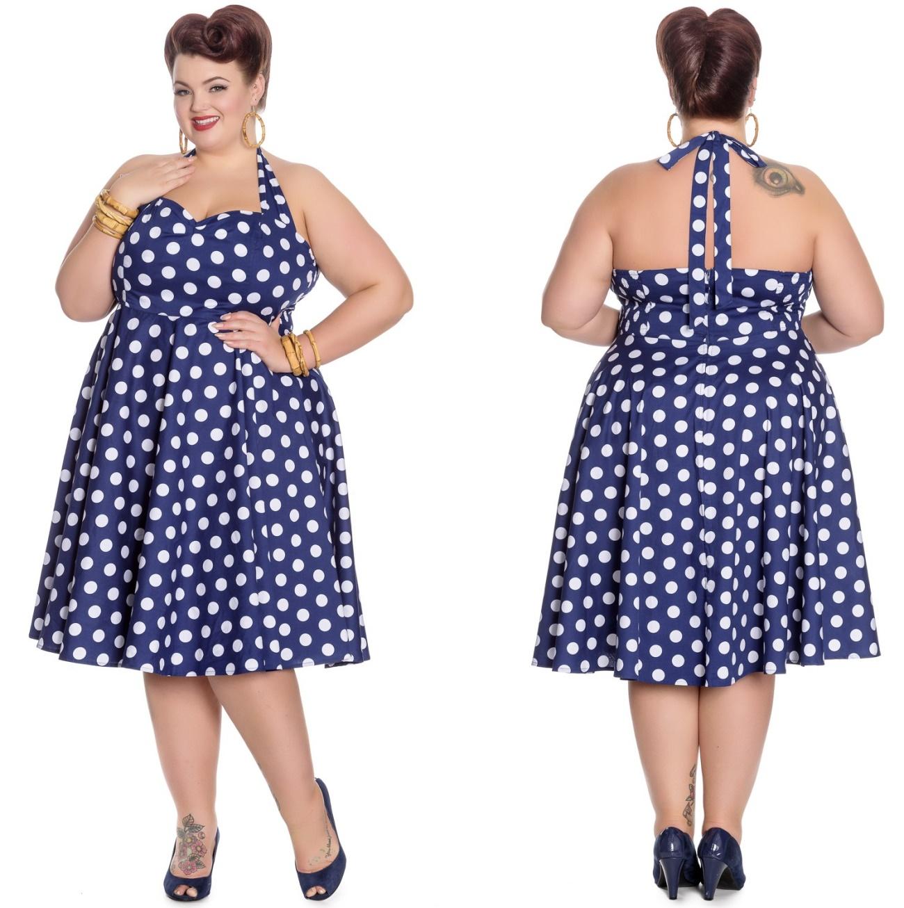 buy popular e6d0b f7406 Marian Dress Rock N Roll Kleid Punkte Plussize Hellbunny - Hellbunny bei  Gothic Onlineshop - www.the-clash.de
