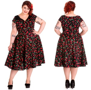 fea659a9844d Petticoatkleid/Rock n Roll Kleid Cherry Hellbunny Plussize