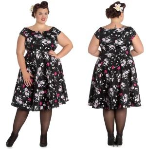 Petticoatkleid/Rock n Roll Kleid Belinda Hellbunny Plussize