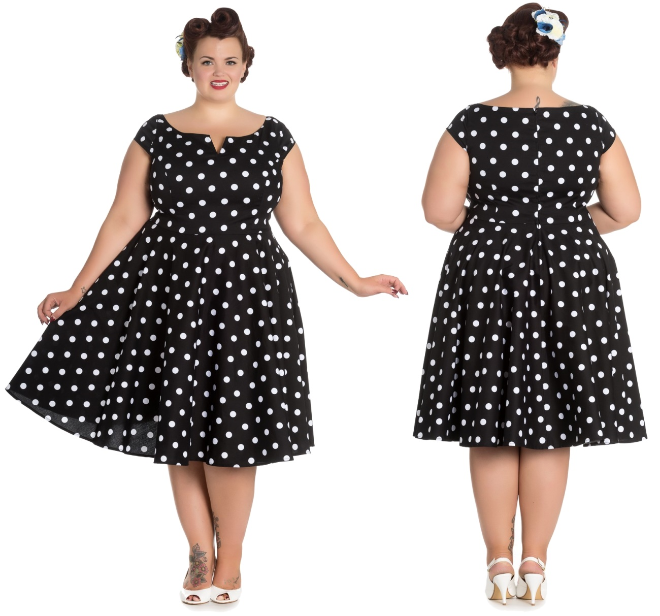 21df0b77e96ec5 Nicky Dress Rockn Roll Kleid Rockabilly Kleid Hellbunny Plus ...