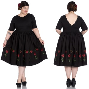 Rosa Rossa Dress Hellbunny Plussize