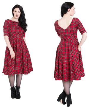 Irvine Dress Rockn Roll Kleid tartan Kleid Hellbunny