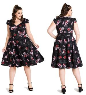 Swingkleid im Stil der 50iger Jahre Hellbunny bis Plussize