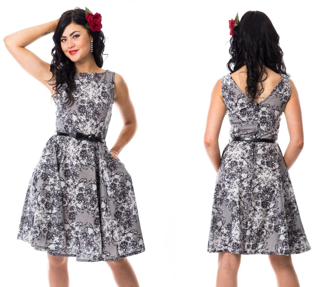 57bb819c918f Swing Dress Rockabella - Rockabella bei Gothic Onlineshop - www.the-clash.de