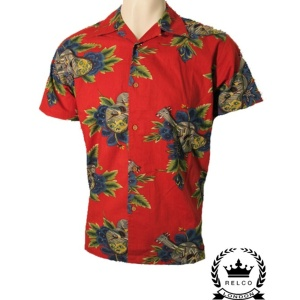 Rockabilly Hemd Hemd Hawaihemd Hawaihemd Rockabilly Relco 3A54LRj
