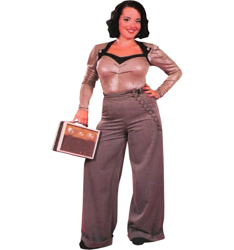 Damen Swing Trouser 40iger Jahre Miss Candyfloss Miss Candyfloss