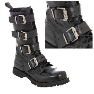 Boots & Braces 14 Loch 4 Buckle Heavy Boot