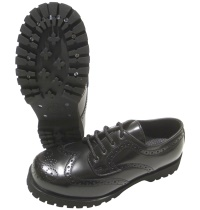 Boots & Braces Budapester Schuh in schwarz