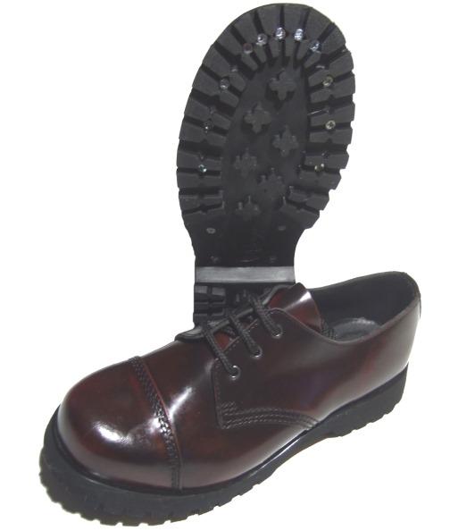 boots braces 3 loch schuh mit stahlkappe in bordo boots and braces boots and braces. Black Bedroom Furniture Sets. Home Design Ideas
