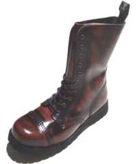 Boots & Braces 10 Loch Boots/Stiefel burgundy/rub off