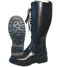 Boots and Braces 20 Loch Stiefel mit stahlkappe in schwarz