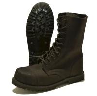 Phantom / Brandit Nubuk Leder Boots 10-Loch mattschwarz