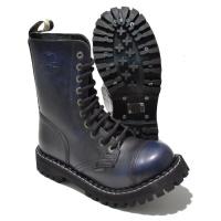 Steel 10 Loch Boots Schnürstiefel Springerstiefel navy rub off
