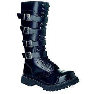 Steel 20Loch Boots mit Schnallen